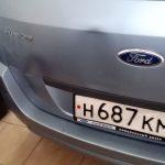 Вмятины на Ford Focus на крышке багажника