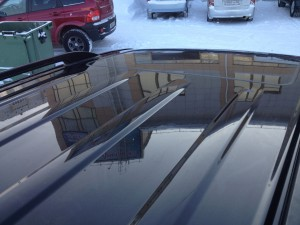 Мастера удалили вмятину на крыше Land Cruiser 200