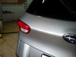Вмятина на багажнике Subaru Tribeca